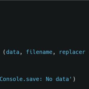 为 Developer Tools 增加 console.save 保存数据功能